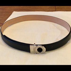 Galaxy Genuine Italian Leather Black Belt